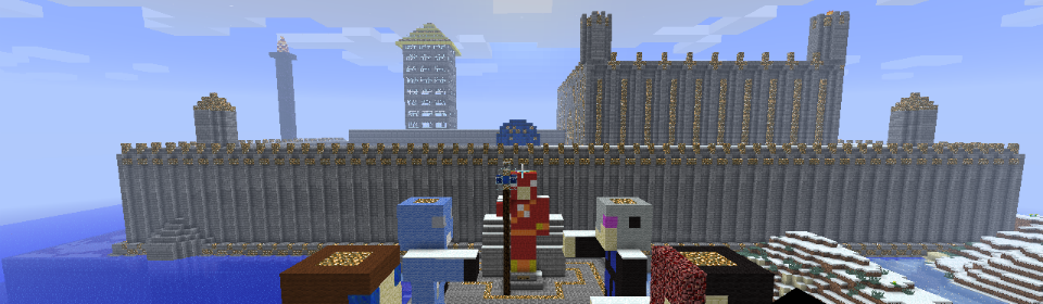 Screen shot of spawn on our minecraft server